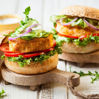 Spicy Shrimp Burgers.