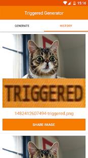 Triggered Meme Maker - náhled