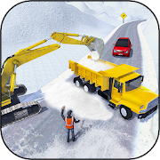 Offroad Snow Excavator Driver: Truck 3D Simulator