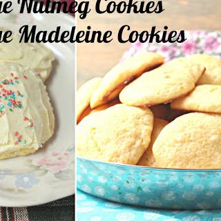 Orange Nutmeg Madeleine Cookies.