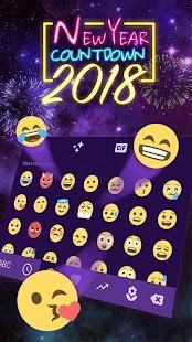 New Year Countdown 2018 Keyboard - náhled
