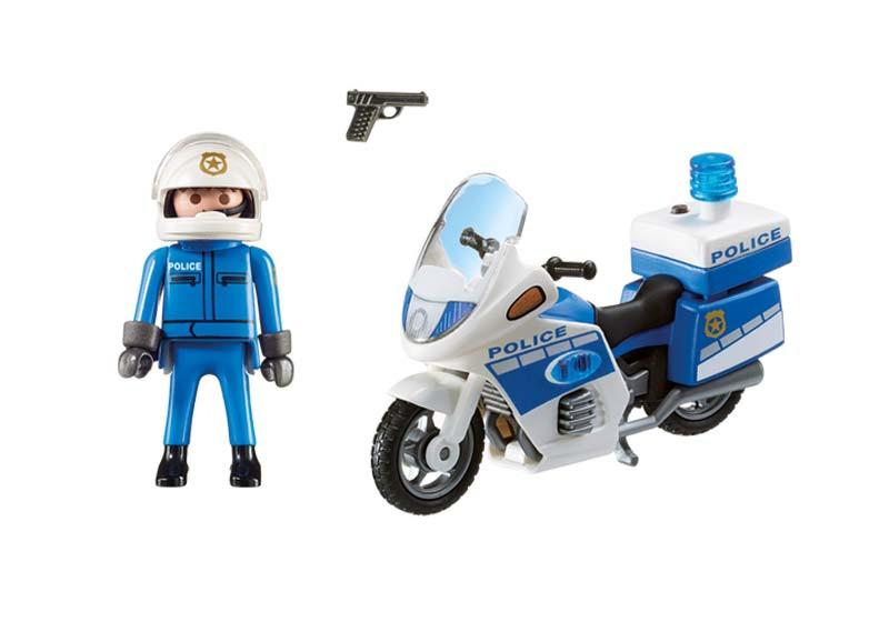 Contenido de Playmobil® 6923 Moto de Policía con Luces Led