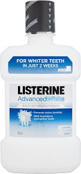 Listerine Advanced White Multi-Action Mouthwash - Clean Mint, 1l