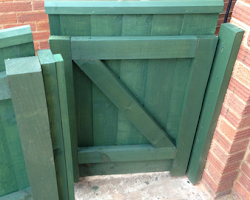 painted gate top view | Paul Jackson Landscaping & Fencing