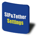 SIP & Tether Settings Shortcut icon