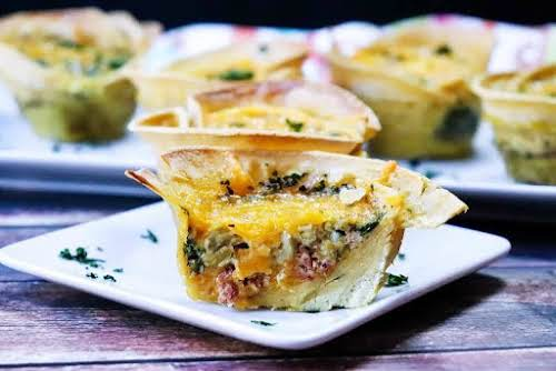 """Green Chili Breakfast Tortilla Cups""""These are easy and versatile. You can also..."""