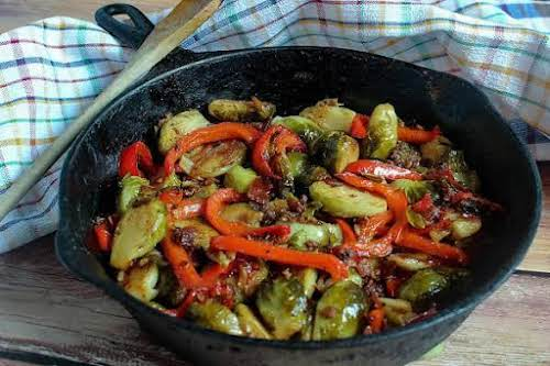 """Mellina's Smokin' Brussels Sprouts""""Even those who don't care for Brussels sprouts will..."""