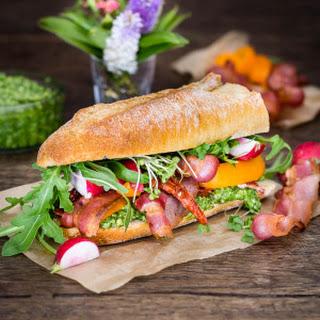 Bacon and Watercress Pesto Sandwich