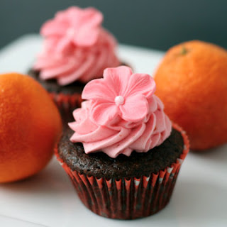 Chocolate Olive Oil and Blood Orange Cupcakes.