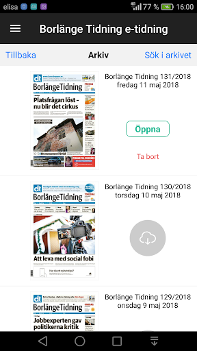 Borlu00e4nge Tidning e-tidning  screenshots 5