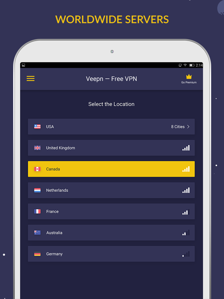 Free VPN by Veepn Screenshot 5