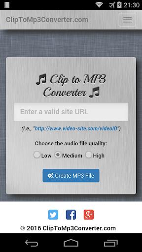 Clip to MP3 Converter