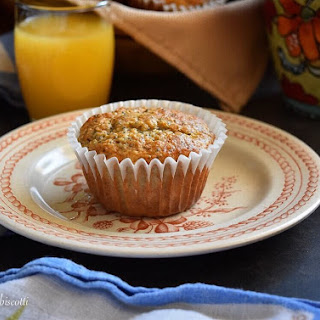 Lemon Poppy Seed Buttermilk Oatmeal Muffin.