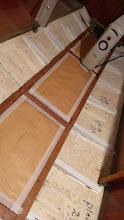 Photo: Bundstokkene monteret. Lemmene er dækket af, så jeg undgår snavs og mærker. De skal lakeres.