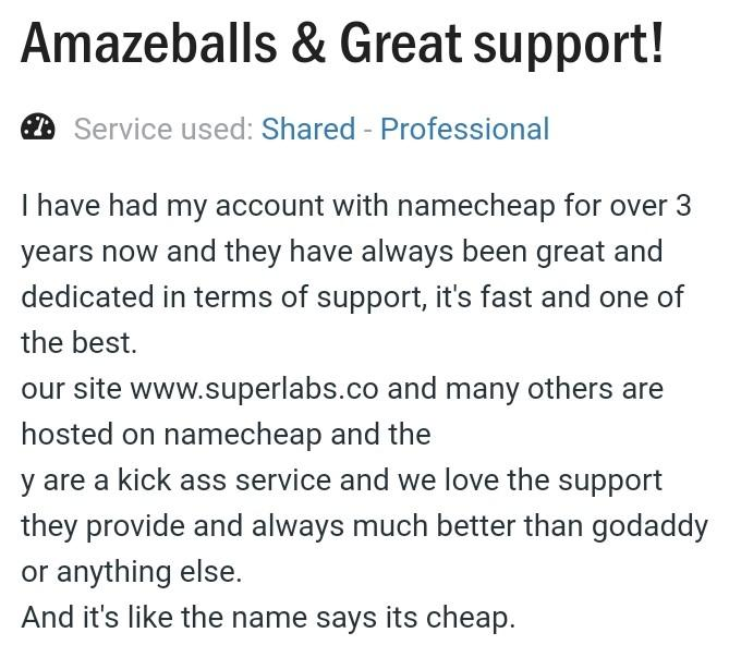 name cheap hosting review as a great support hosting
