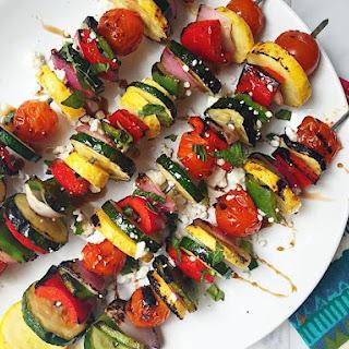 Grilled Summer Veggie Skewers
