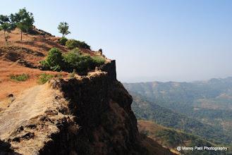 Photo: Fortification on Padmavati Machi