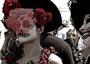 Photo: In celebration of the Day of the Dead. Back to Halloween photos tomorrow. This was shot at the Coney Island Mermaid Parade #streetphotography