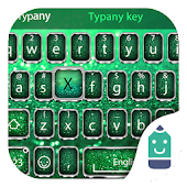 Green Glitter Typany Keyboard Android APK Download Free By Best Keyboard Theme Design