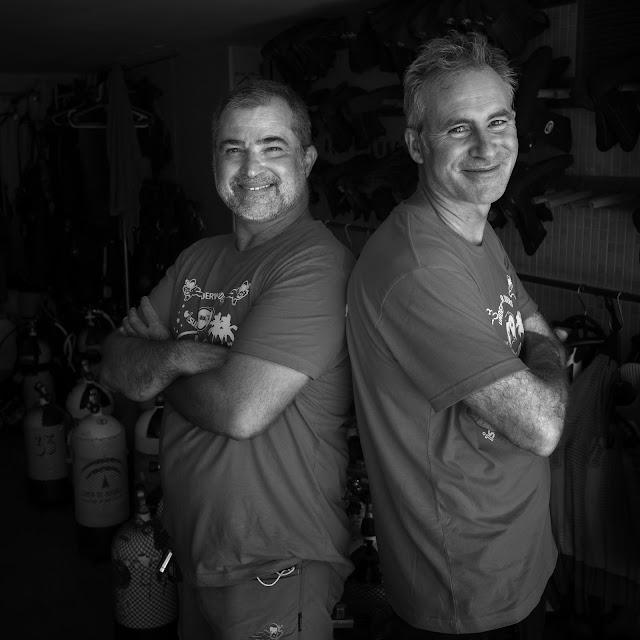Antonio y Ramón, del club de buceo Isub, también reconocido.