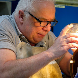 Cutting Crystal in the Waterford Factory by Kent Perry - Novices Only Portraits & People