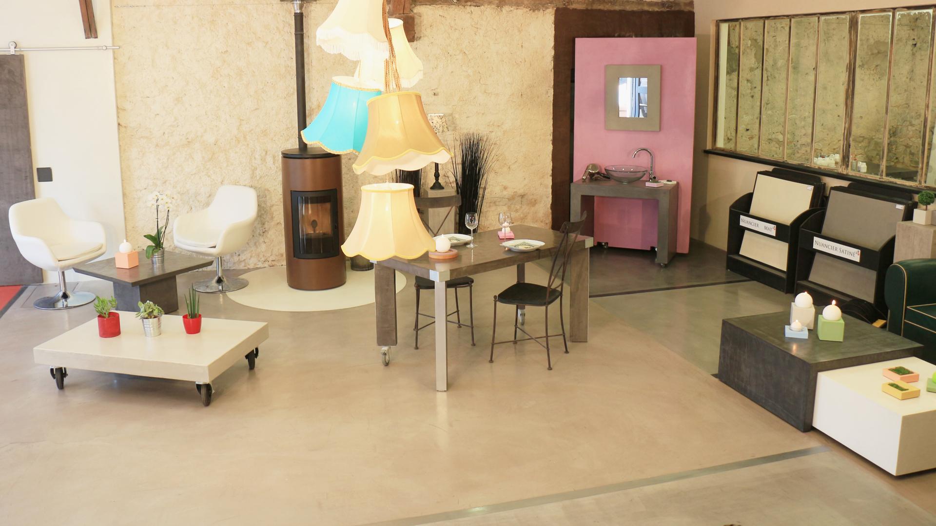 Showroom Beton Cire Paris spécialiste de décoration intérieure en béton ciré