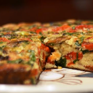 Roasted Red Pepper and Mushroom Frittata