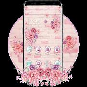 Pink Girly flower Wall Theme APK for Ubuntu