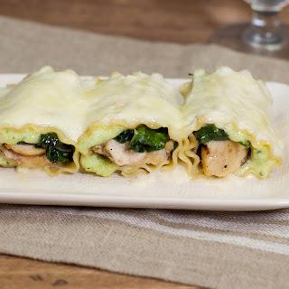 Chicken Lasagna Rollups