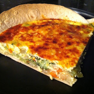 Veggie Tortilla-Crusted Quiche