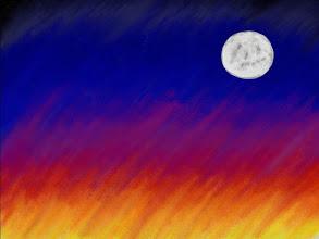 Photo: 012/366 - sunset moon