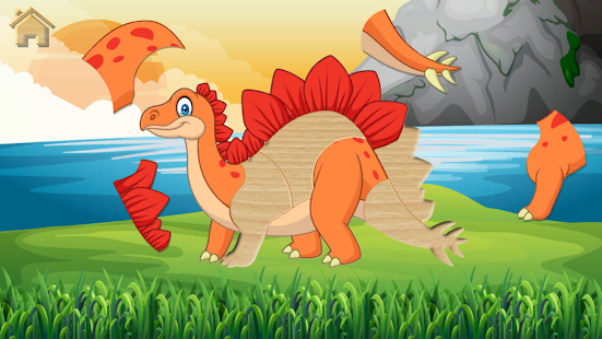Funny Dinosaurs Kids Puzzles, full game. Screenshot
