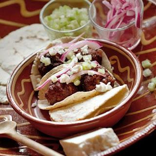 Lamb Chorizo Albondigas Tacos with Fresh Tomatillo