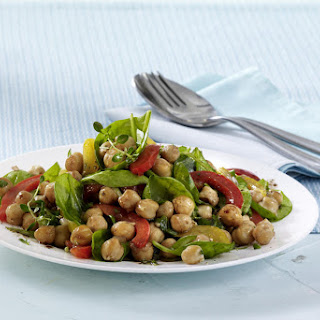 Chickpeas with Spinach and Balsamic Vinaigrette