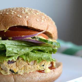 Lemon Tahini Chickpea Veggie Burgers.