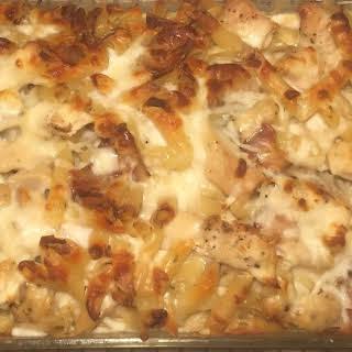 Chicken Carbonara Bake.