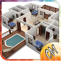 3D Simple House Plan icon