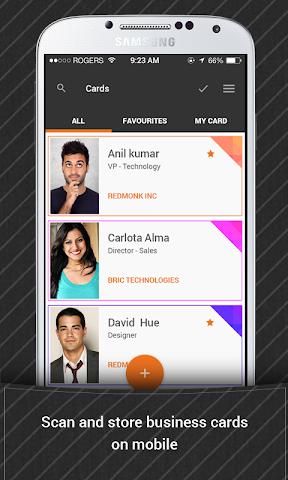 android Bric - Biz Card Manager Screenshot 0