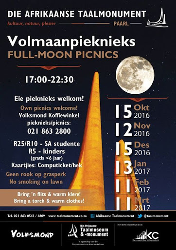 Full-Moon Picnic at the Language Monument : Afrikaanse Taalmonument