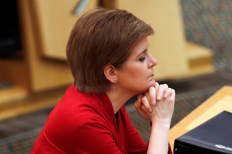 Scottish first minister Nicola Sturgeon at the Scottish parliament in Edinburgh, Britain, on February 23 2021. Picture: REUTERS/RUSSELL CHEYNE