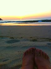 Photo: Sunset, Los Organos beach.
