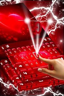 Téma klávesnice červené srdce - náhled