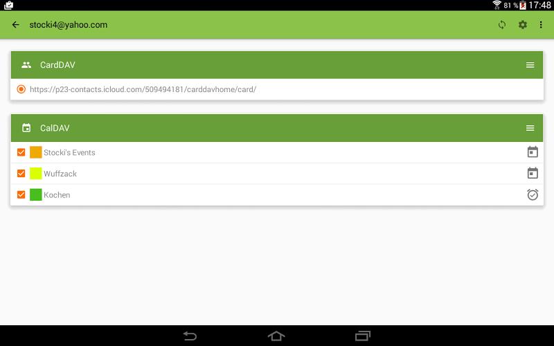 DAVdroid – CalDAV/CardDAV Synchronization Screenshot 8