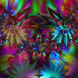 Shells by Cassy 67 - Illustration Abstract & Patterns ( digital, modern art, love, harmony, art, abstract art, trippy, psyart, abstract, artwork, fractals, digital art, psychedelic, modern, light, fractal, energy )