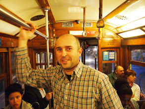 Photo: Bernardo in the tram