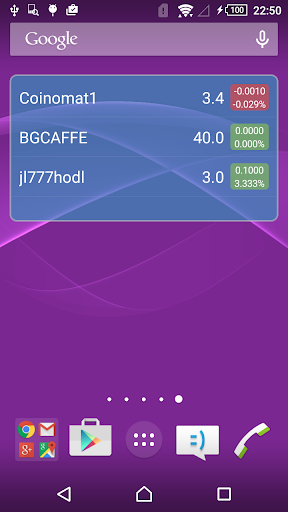 NXT Asset Watcher for Android