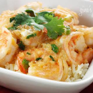 Thai Coconut Curry Shrimp.
