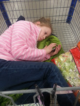 Photo: Mads was sleepy and ready to go, she had a long day and was done shopping.