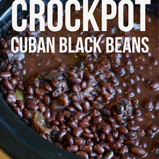 Crockpot Cuban Black Beans.