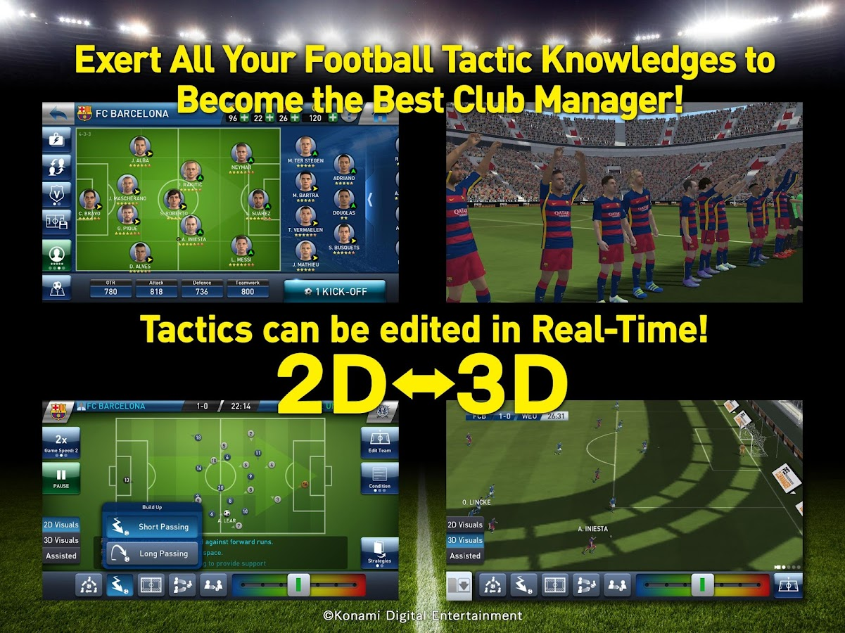 Screenshots of PES CLUB MANAGER for iPhone